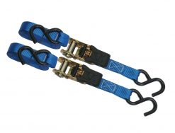 BullRing 1in x 15ft Ratchet Strap Tie Downs - 2 Pack