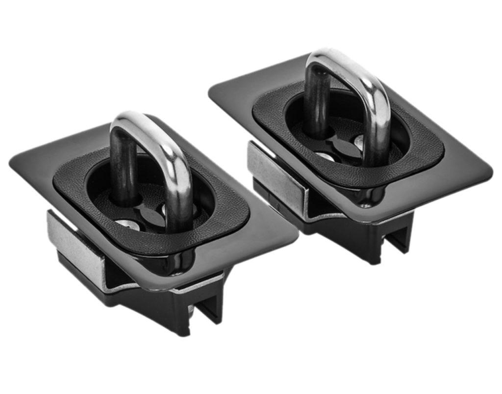 5066 Flush Fit Black Chrome Anchor Tie Downs